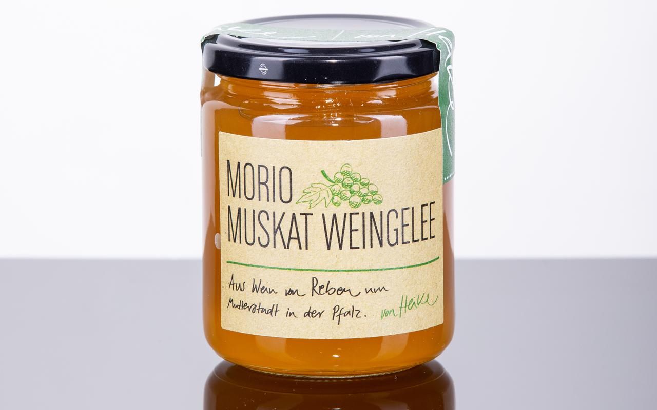 Pfälzer Morio Muskat Weingelee (weiß) aus nachhaltiger Verarbeitung
