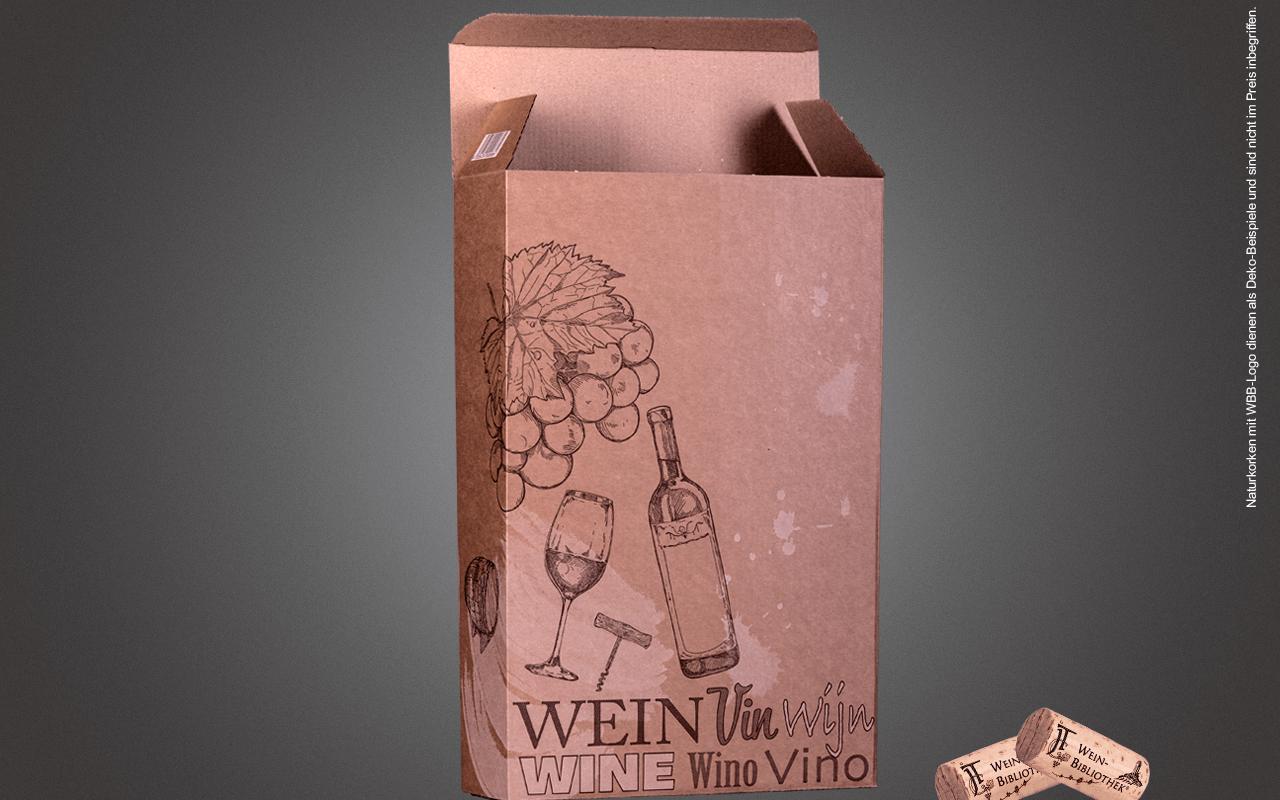 JTC 3er Geschenk-Karton unbefüllt - als Präsent zum Überreichen (Abholpreis Vinothek)