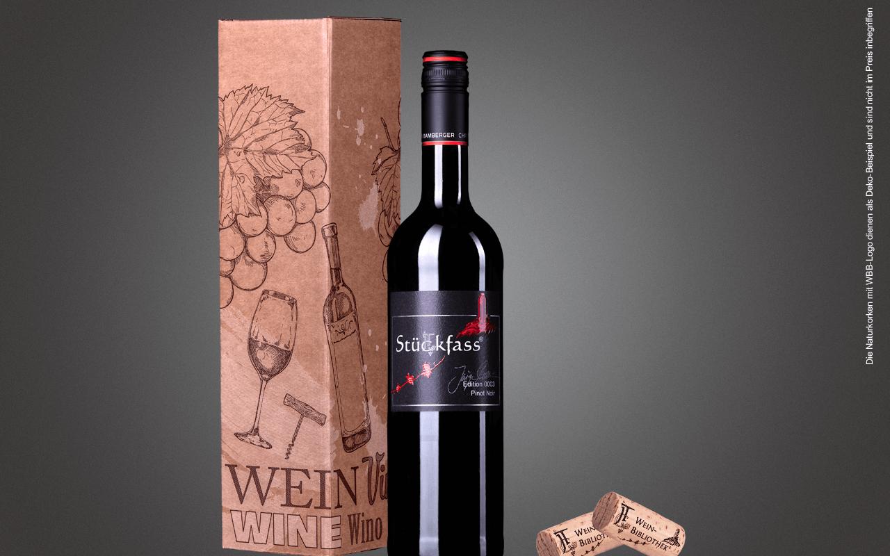 """JTC 1er Karton """"Pinot Noir ungefiltert Nahe JTC Stückfass""""(Präsent zum Abholpreis Vinothek)"""