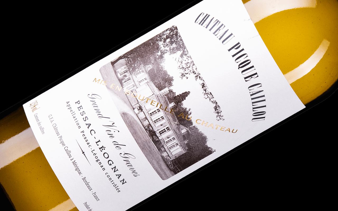 """2014 Château Picque-Caillou blanc """"Kieselstein Ton"""" Pessac-Léognan Bordeaux, Frankreich"""