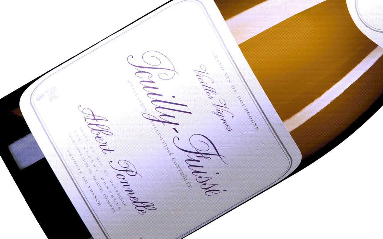 """2016 Pouilly-Fuissé Vieilles Vignes """"Kalkstein"""" Côte Mâconnais Burgund, Frankreich"""