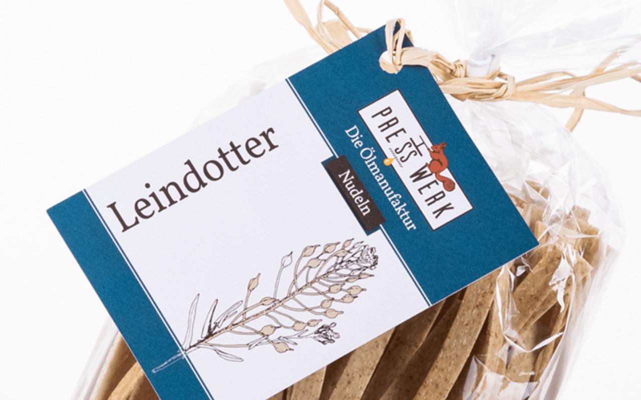 Zellertaler Leindotter-Nudeln - Ölmühle Michaela Hein