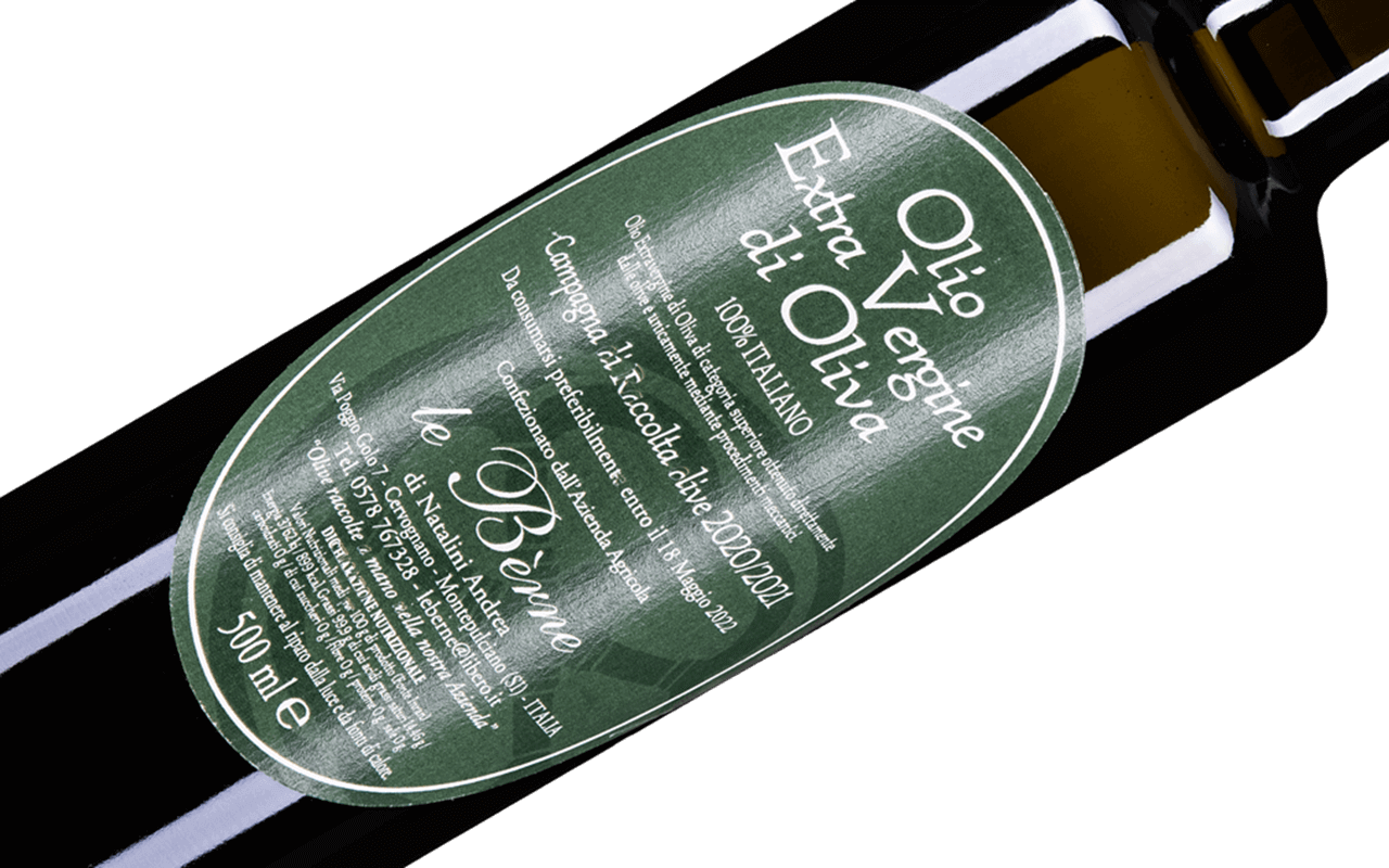 """Toskana Olivenöl Extra Vergine kaltgepresst ungefiltert """"Pliozän Kalk Fossilien"""""""