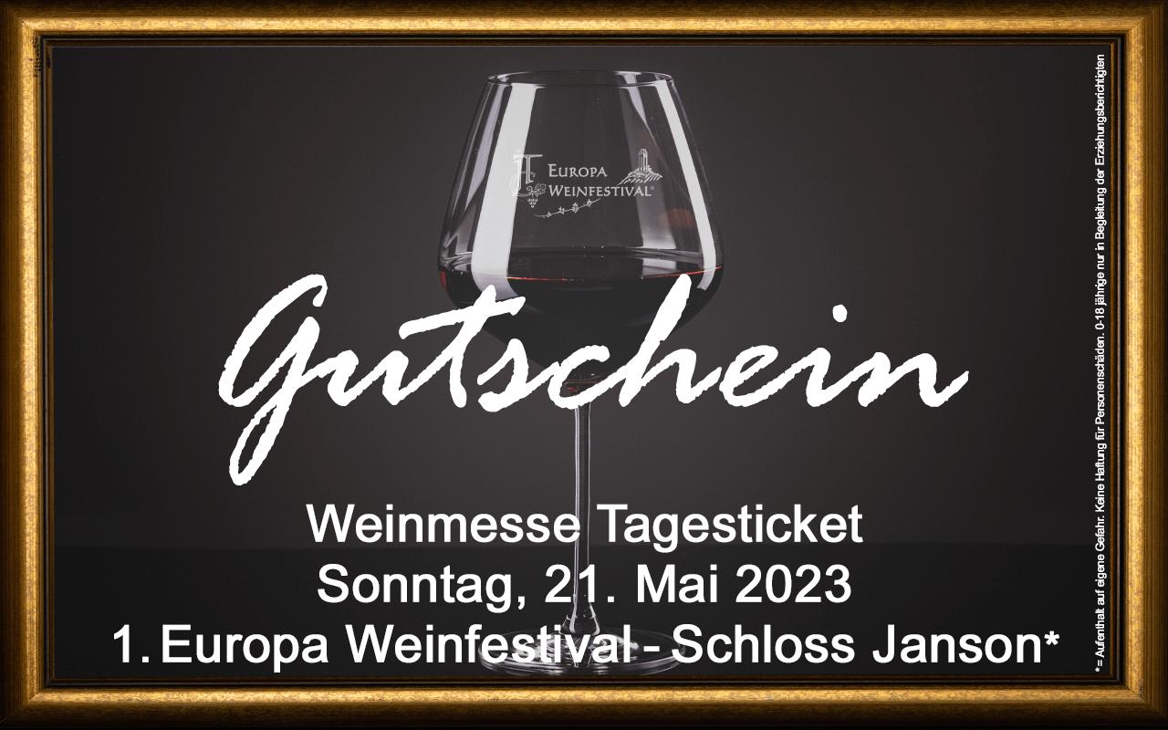 Weinfestival Messe-Tagesticket 21.05.2023 (So.) Gutschein Schloss Janson