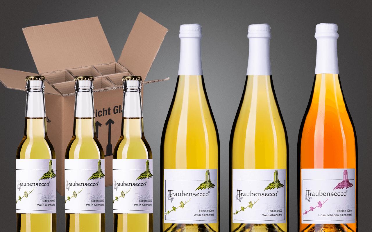 "Probierbox 6er ""JTC Traubensecco Alkoholfrei Deutschland"" (Abholpreis)"
