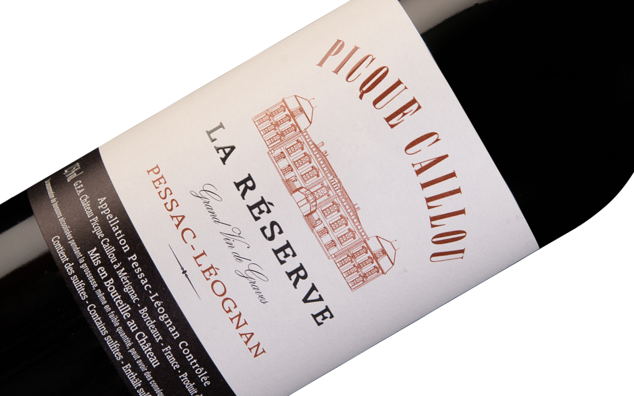 """2014 La Réserve de Picque Caillou """"Kieselstein"""" Pessac-Léognan Bordeaux, Frankreich"""
