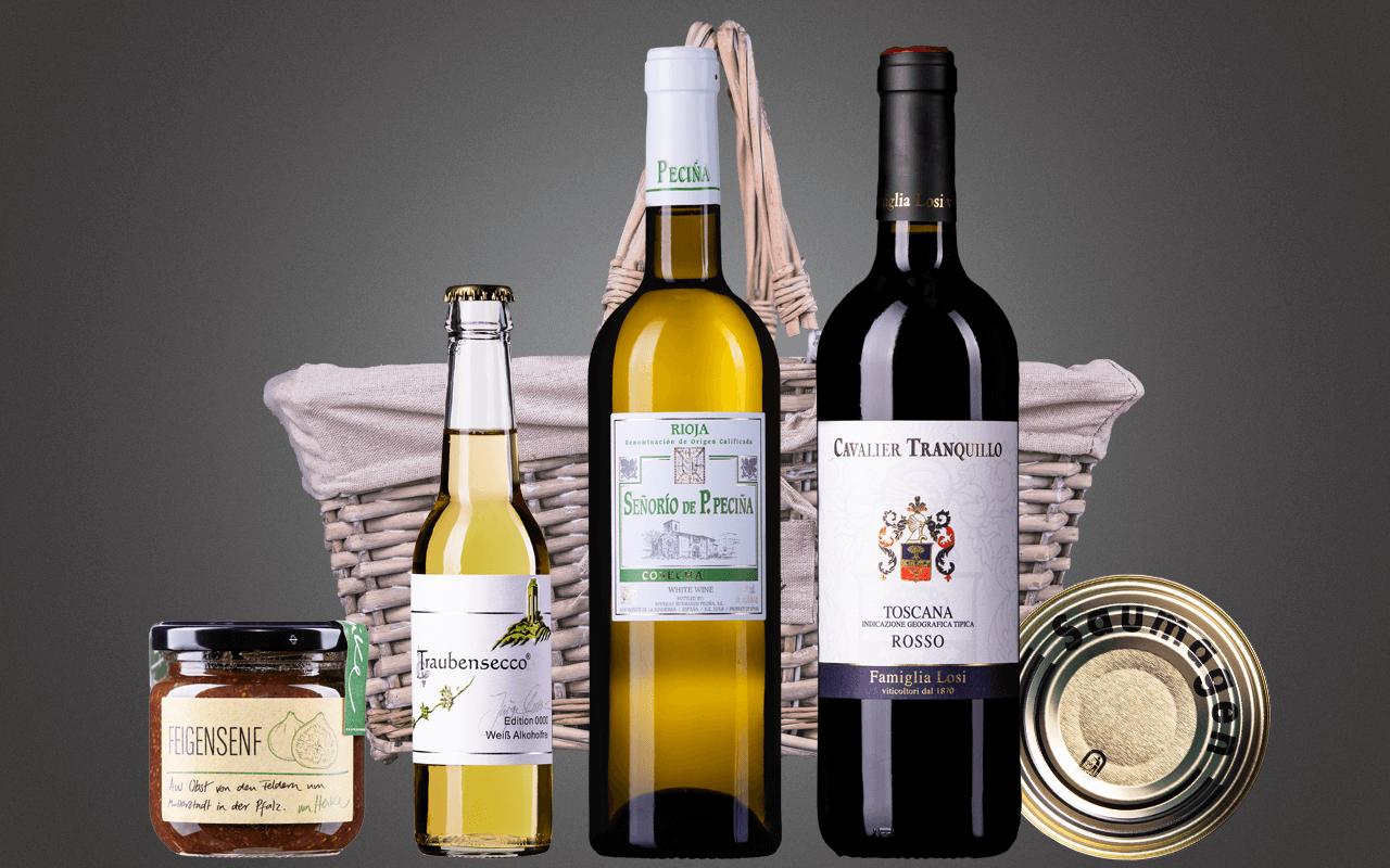 """Präsentkorb """"Glücksgefühle für Weineinsteiger"""" (Abholpreis Vinothek)"""