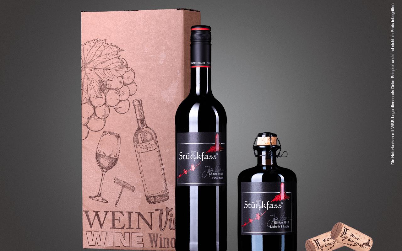 """JTC 2er Karton """"Pinot Noir trifft Trollinger Likörwein"""" als Präsent verpackt (Abholpreis)"""