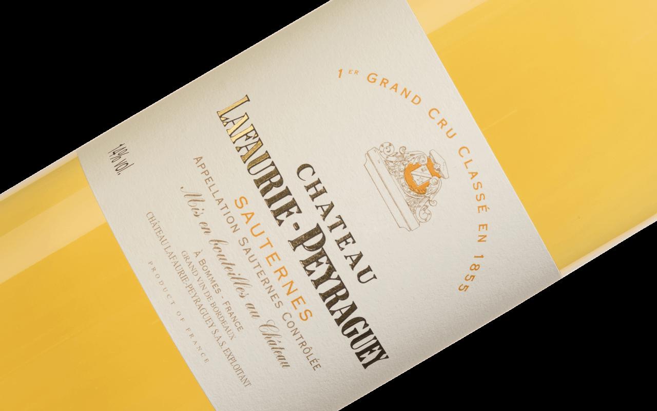 """2009 Château Lafaurie-Peyraguey """"Lehm Kalk Sand Kiesel"""" Premier Cru Sauternes Bordeaux, Frankreich"""